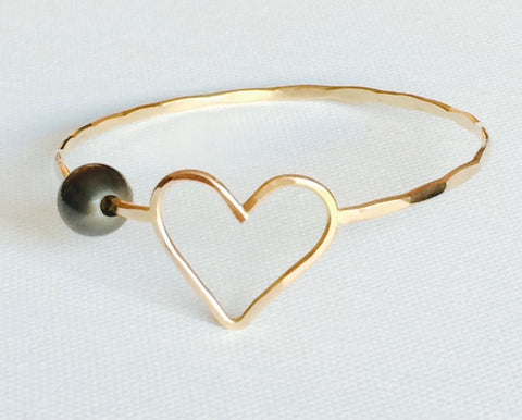 Bangle Eden - tahitian pearl (B188)