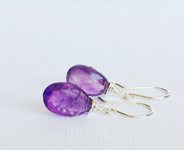 Earrings Nalani - amethyst (E273)