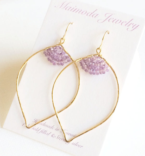 Earrings Malie - amethyst (E195)