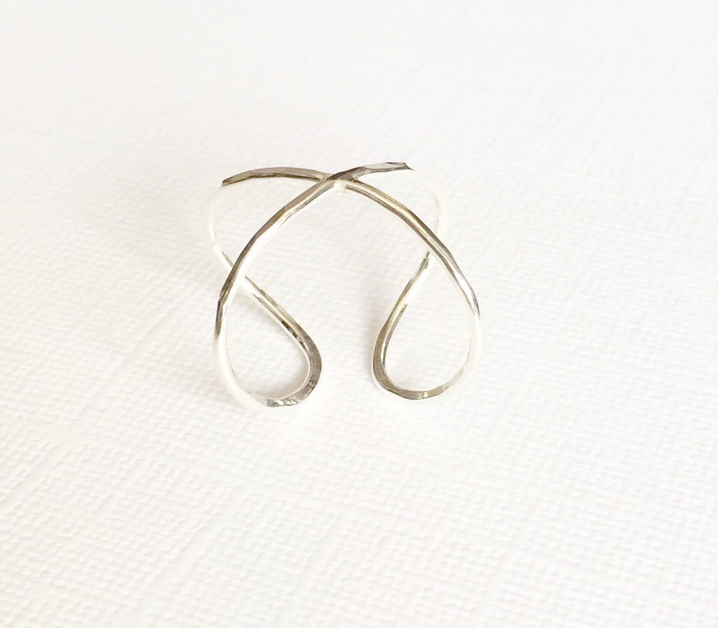 Infinity cuff ring - Sterling silver (R131)