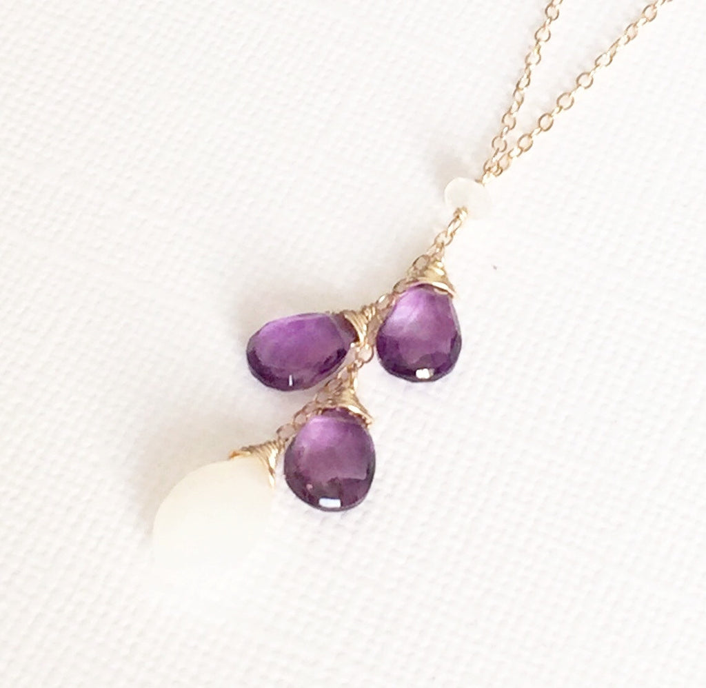 Necklace Nohea  - amethyst (N125)