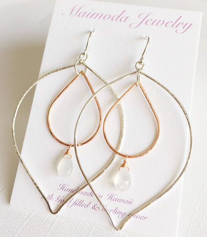 Earrings Yoshiko - moonstone (E133)
