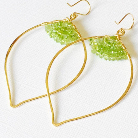 Earrings Malie - Peridot (E115)