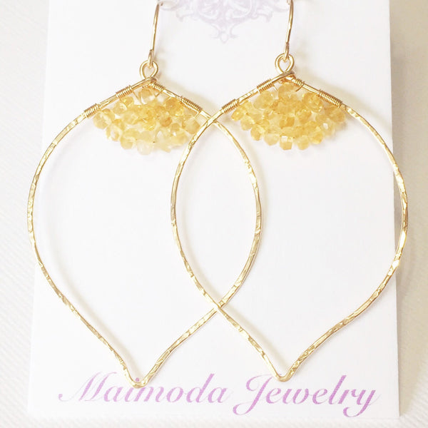 Earrings Malie - citrine (E201)