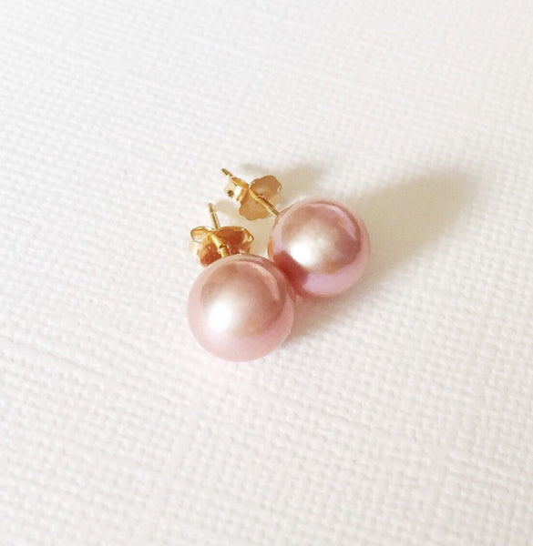 Earrings Momi - Edison pink pearl (E231)