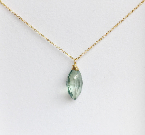 Necklace Yazmin - Teal quartz (N195)