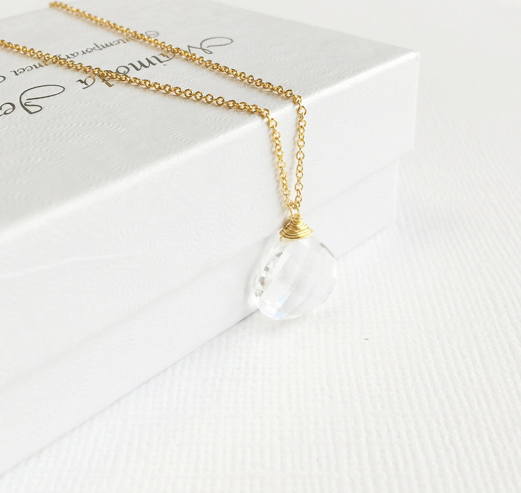 Necklace Kaipo - crystal quartz (N192)