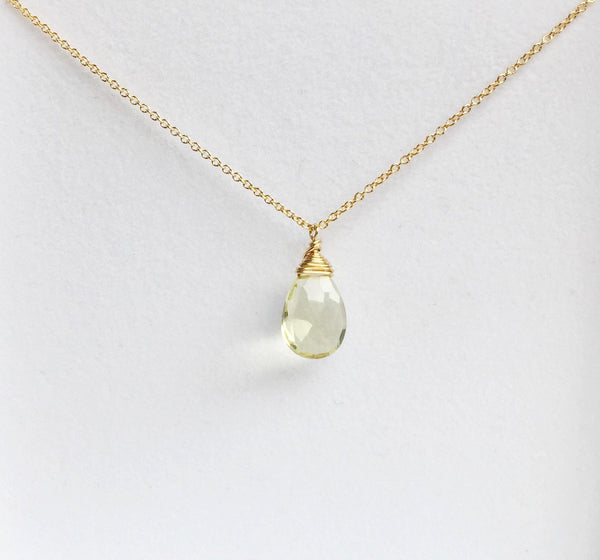 Necklace Yazmin - Lemon Topaz  (N197)