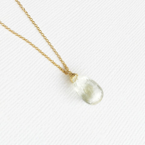 Necklace Yazmin - Green Amethyst  (N197)
