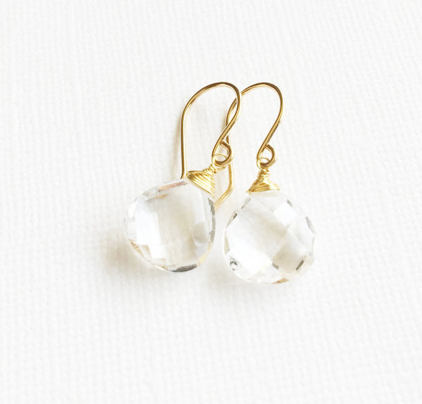 Earrings Kala - Crystal quartz  (E246)