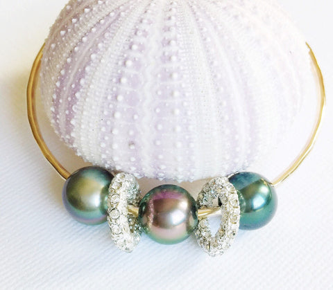 Bangle Aneli - Tahitian pearls (B264)