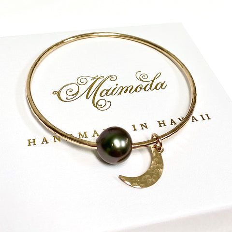 Bangle MAHINA - Tahitian pearl (B455)