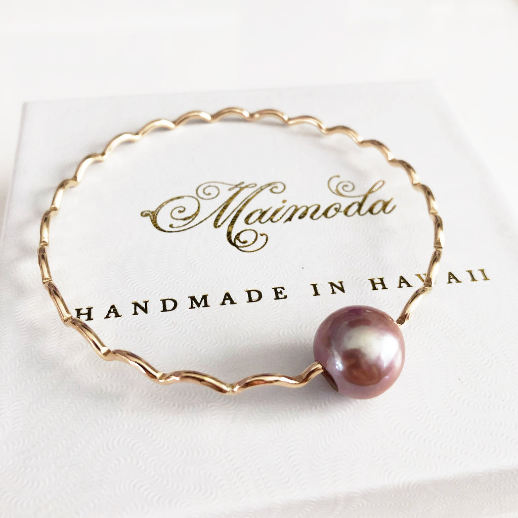Bangle UNAHI - lavender pearl (B428)