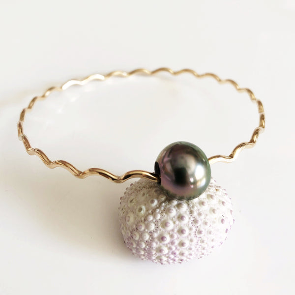 Bangle UNAHI - tahitian pearl (B420)