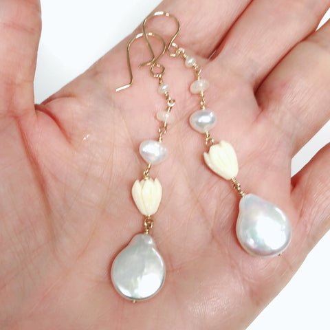 Earrings ANNALISE - pikake (E565)