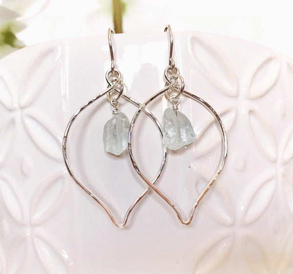 Earrings Doree - aqua sea glass (E329)