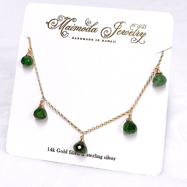 Necklace IVANAH - emerald (N389)