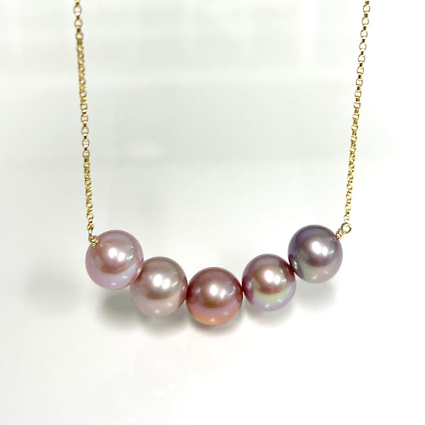 Necklace AURA - purple ombré ( N388)