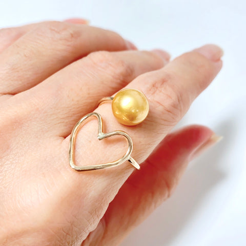 Ring EDEN - gold south sea pearl (R212)