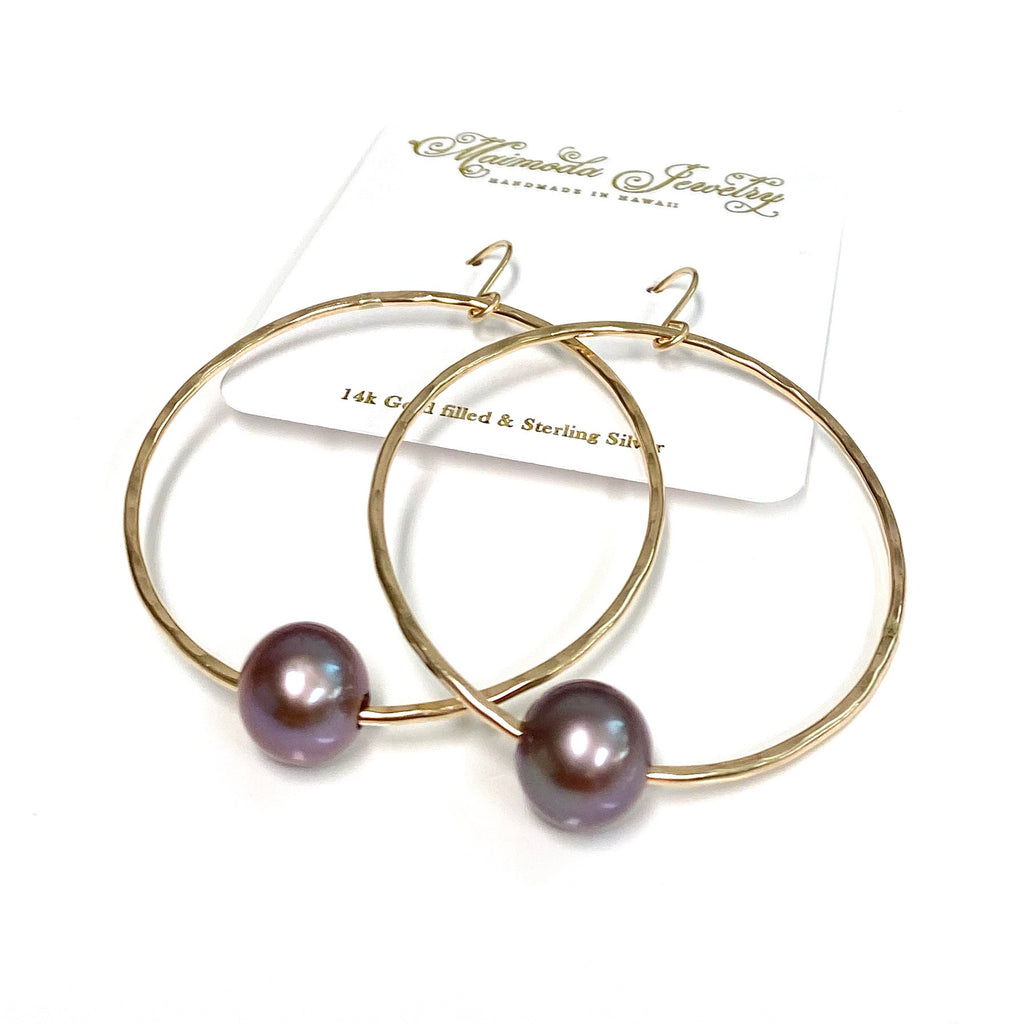 Earrings SIRENA - lavender Edison pearls (E591)