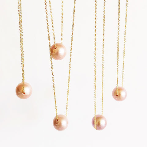 Necklace Kea - Pink Edison pearl  (N199)