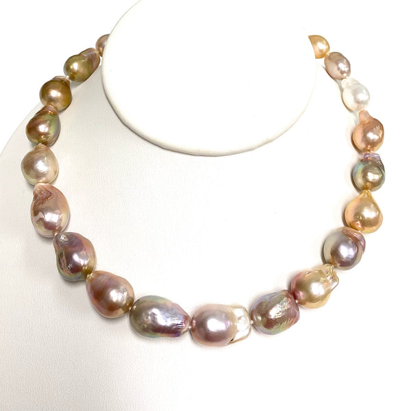 Necklace JACQUELINE - Baroque Edison pearls necklace (N354)