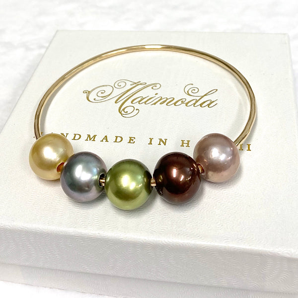 5 pearls bangle (B505)