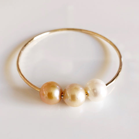 Bangle PAIGE - gold edison pearls (B255)