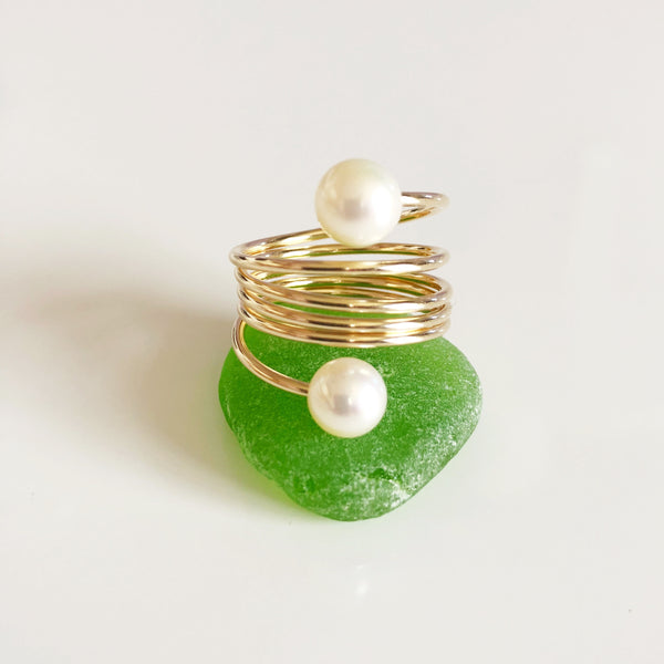 Ring CAMILA - white pearls (R164)