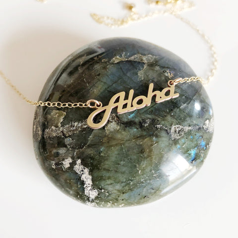 ALOHA pendant necklace (N281)