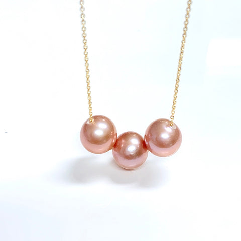 Necklace Kristi - pink Edison pearls (N156)