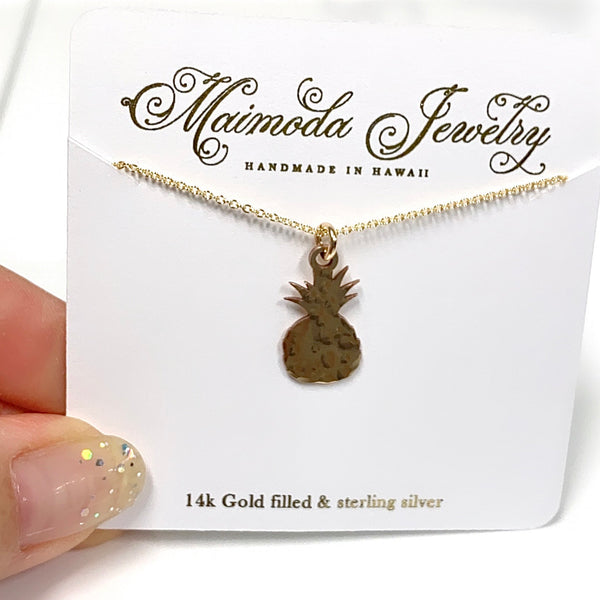 Pineapple charm necklace (N331)
