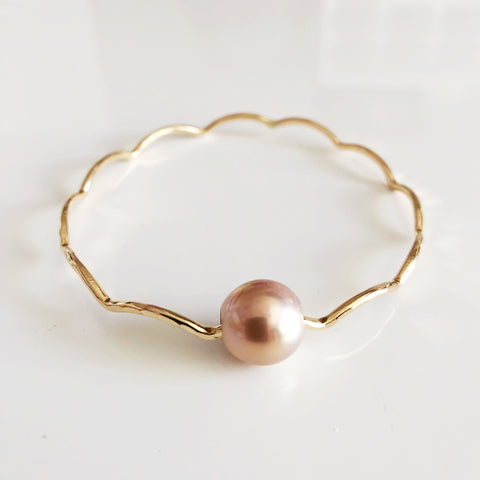 Bangle TOMI - pink pearl (B391)