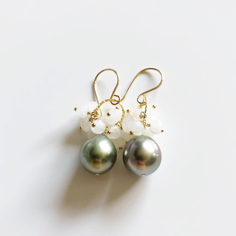 Earrings KIRA - moonstone (E529)