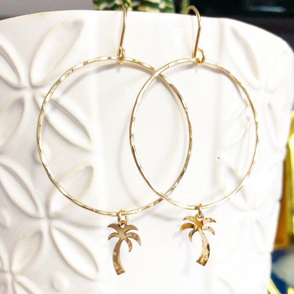 Earrings LULU - palm tree