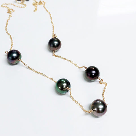 Necklace SIENNA - tahitian pearls (N325)