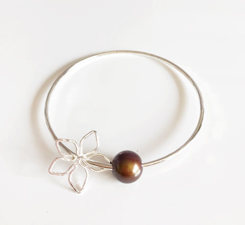 Bangle Tiare - chocolate pearl (B286)