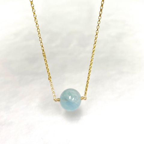 Aquamarine necklace (N377)