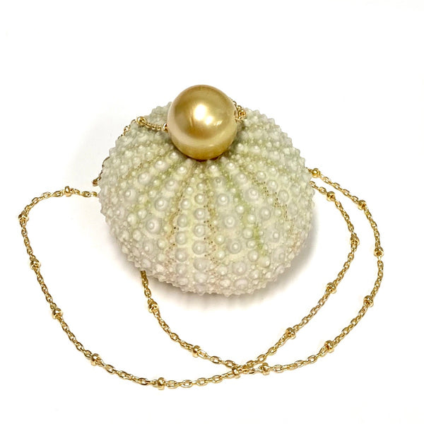 Necklace KEALANI - gold south sea pearl (N347)