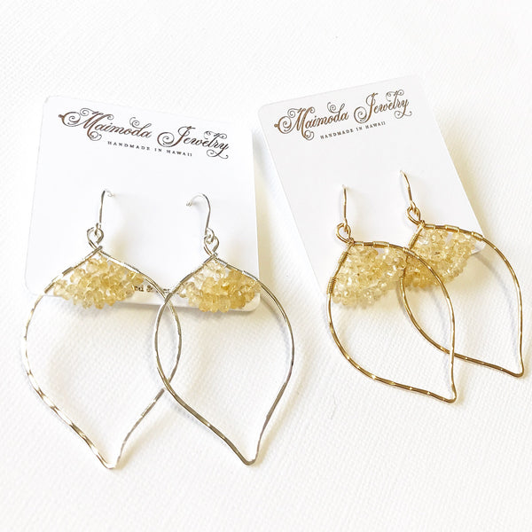Earrings Wren - Citrine (E321)