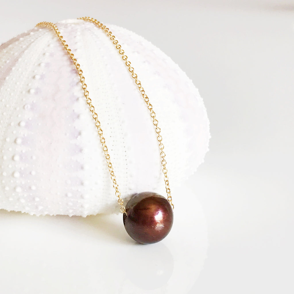 Necklace Kea - chocolate   (N183)