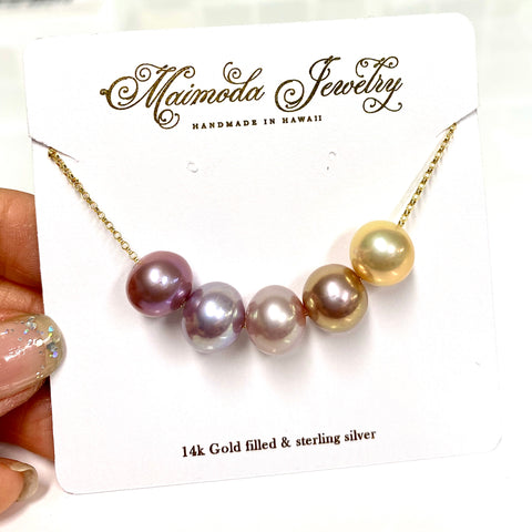 5 Edison pearls necklace