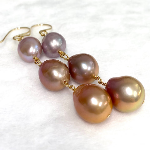 Earrings RAYE - Edison pearls (E595)