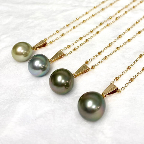 Necklace Irene - Tahitian pearl (N350)