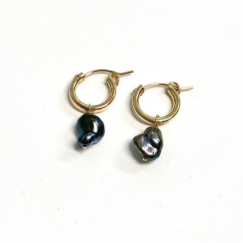 Earrings NOELA - keshi Tahitian pearl (E584)