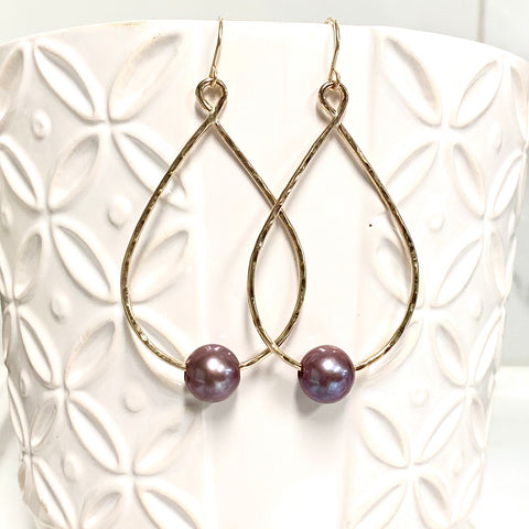 Earrings MOLLY - lavender Edison pearls (E576)