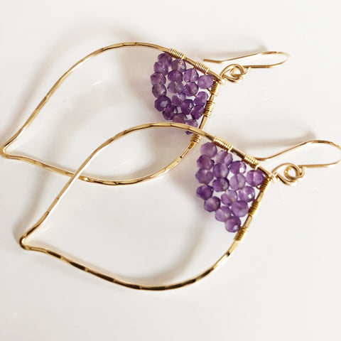 Earrings WREN - Amethyst (E475)