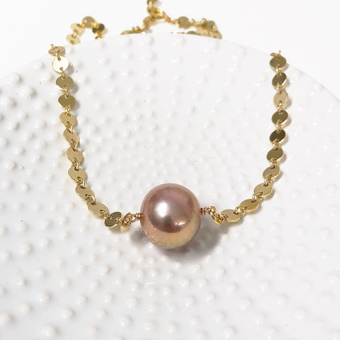 Necklace FAE - pink Edison pearl (N328)
