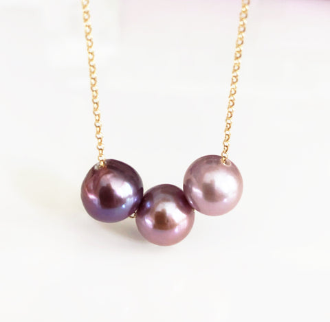 Necklace KRISTI - ombré Edison pearls (N322)
