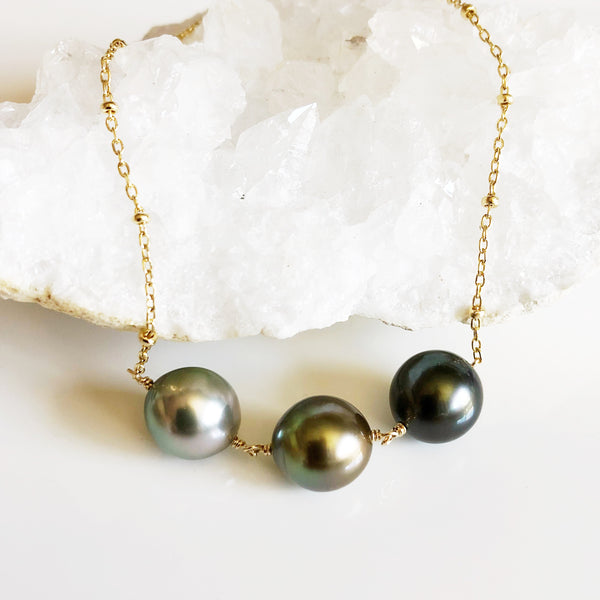 Necklace Maddi - tahitian pearls (N306)